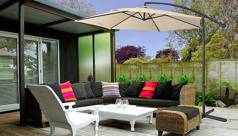 $99 for a Three-Metre Milano Cantilever Umbrella with Full Length Protective Cover (Don't Pay $399)