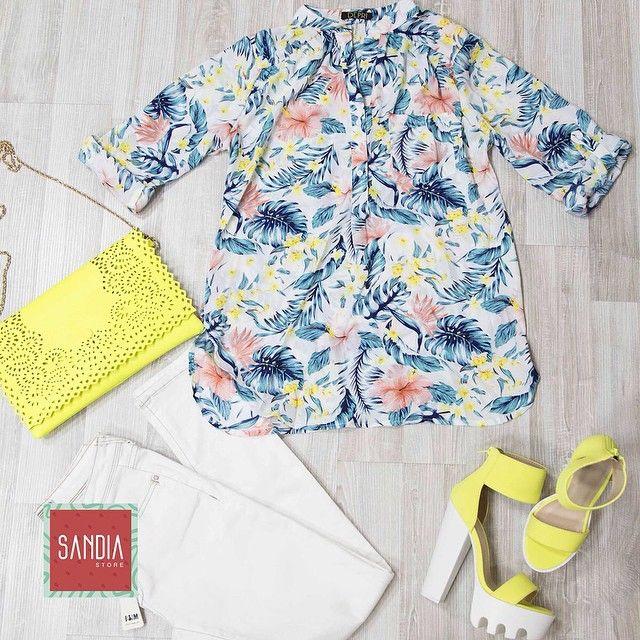 Outfit completo disponible!! Para darle color y frescura a esta mañana! #SandiaIsTheNewFashion