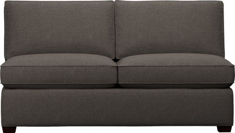 Davis Armless Sectional Full Sleeper Sofa Crate And