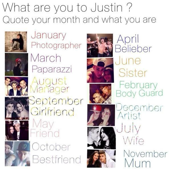 What Are you to Justin? :) I'm the bestfriend
