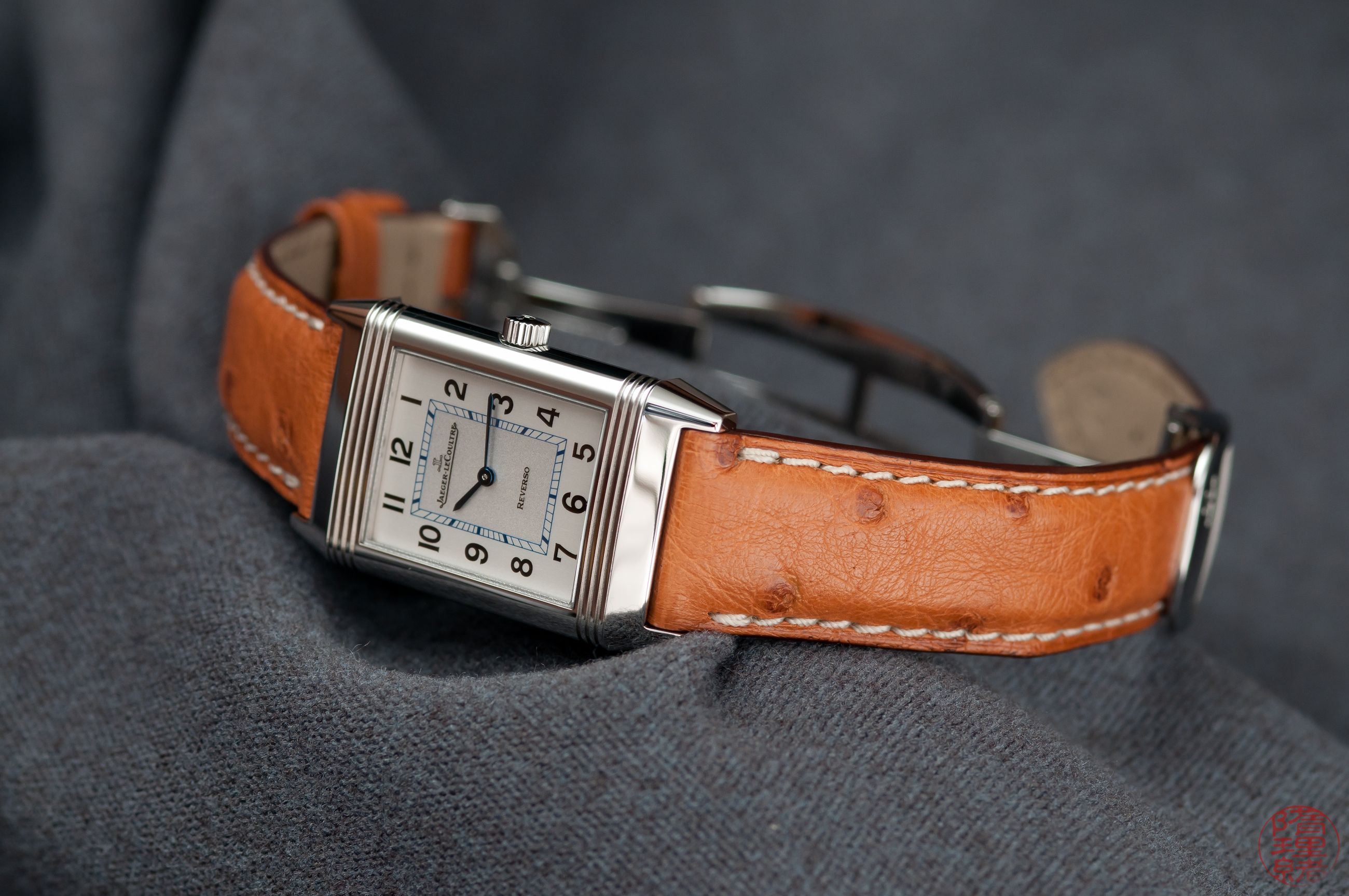 c3b74be5ff86 On my wrist  Jaeger-leCoultre Reverso Classique with the ostrich strap.