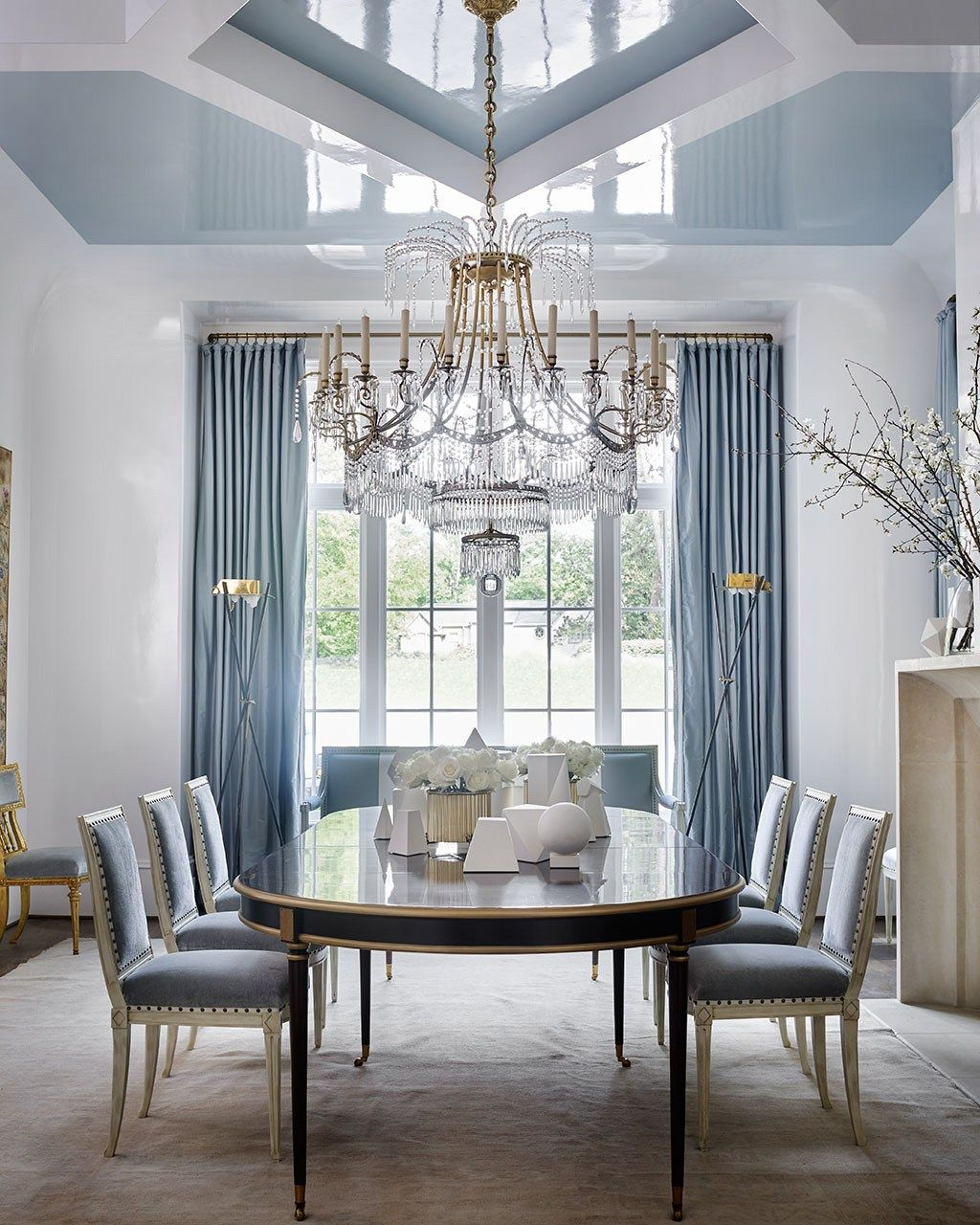 Decorating Blog Buyer Select Fashion Home Decor Dining Room Blue Luxury Dining Room Blue Ceilings Beautiful dining room ceilings