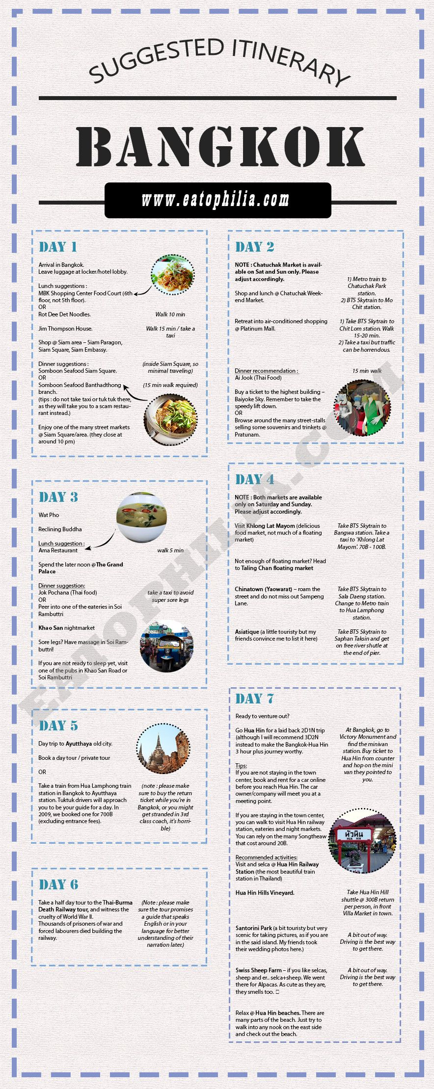 Bangkok Travel 3days 7days Itinerary A Suggested Itinerary For Bangkok 3 7 Days You Can Adjust This Printable Itinerary Accordingly Have Fun