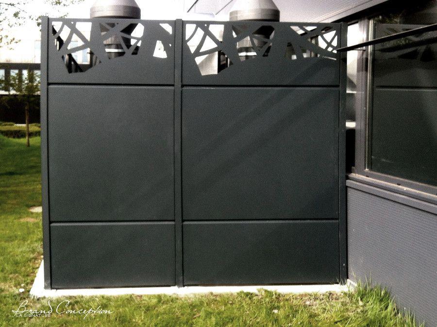 clautra cloture decorative aluminium découpe laser palissade alba on