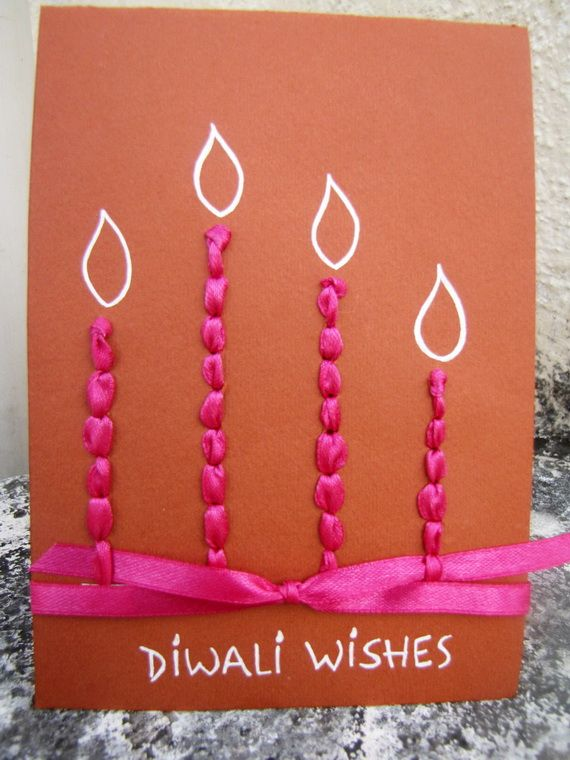 Greeting Card Ideas To Make Part - 15: Diwali Homemade Greeting Card Ideas