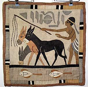 Egyptian man with donkeys papyrus