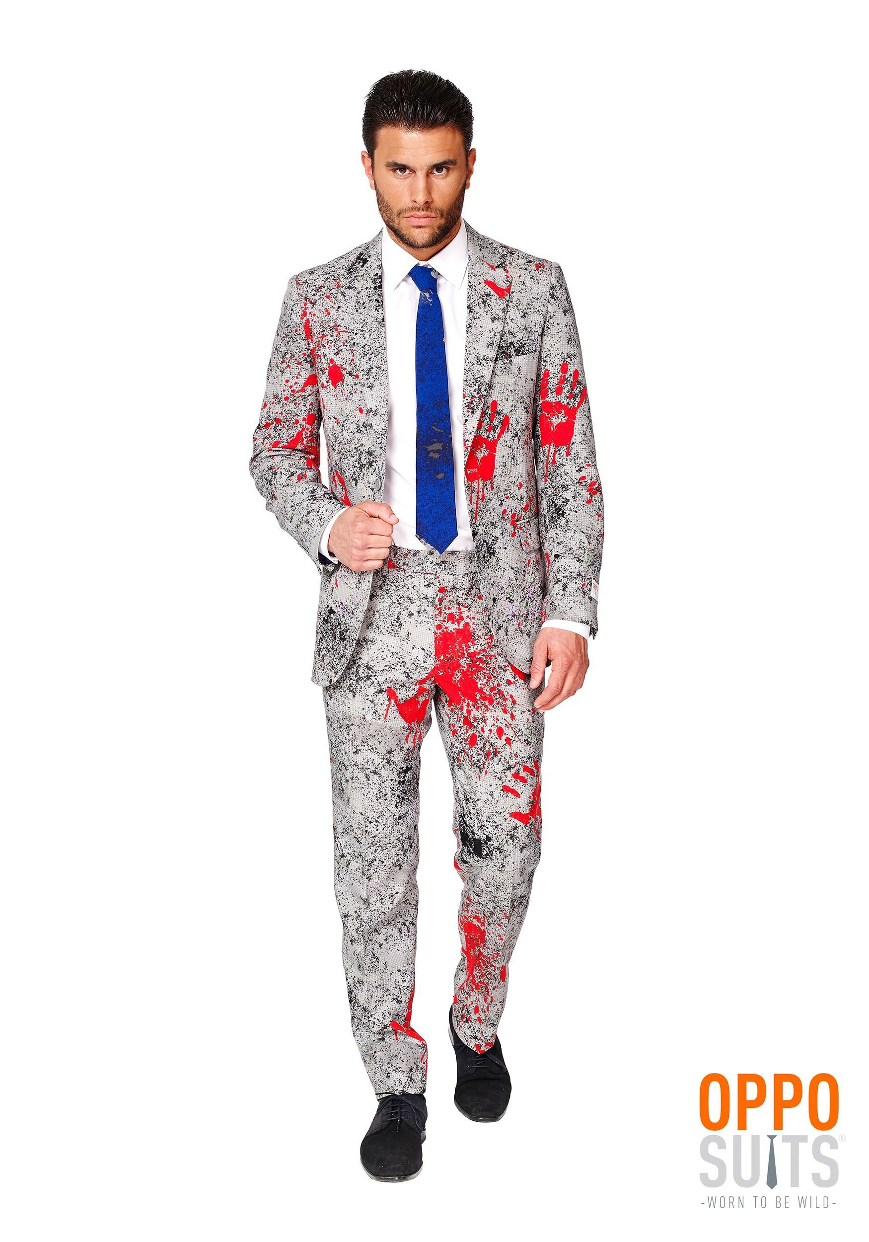 d8ea713be3b This Men s OppoSuits Zombiac Suit is perfect for your office Halloween  party.