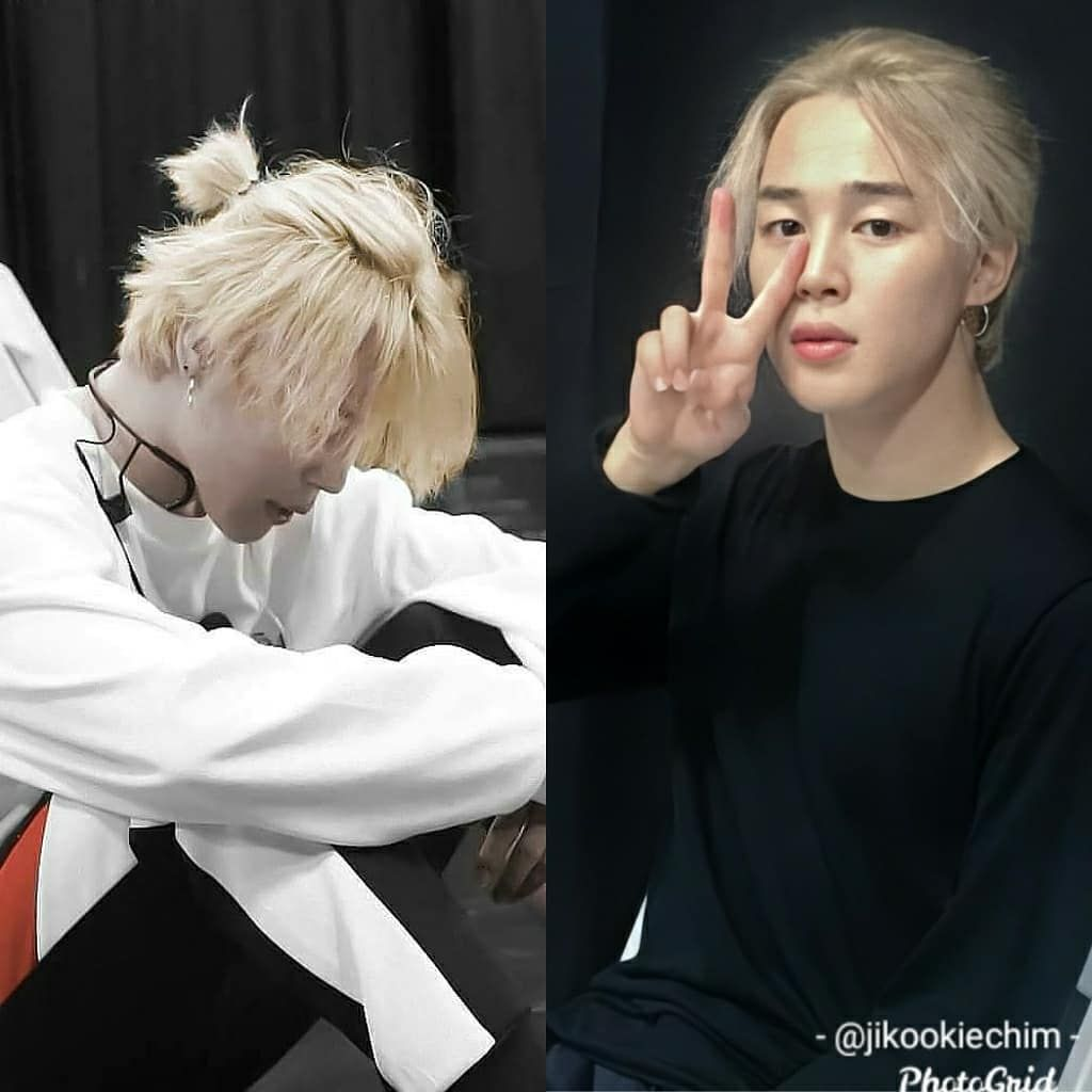 Pin By Tuyenitae On Everything And Stuff In 2020 Jimin Hair Long Blonde Hair Jimin Pictures