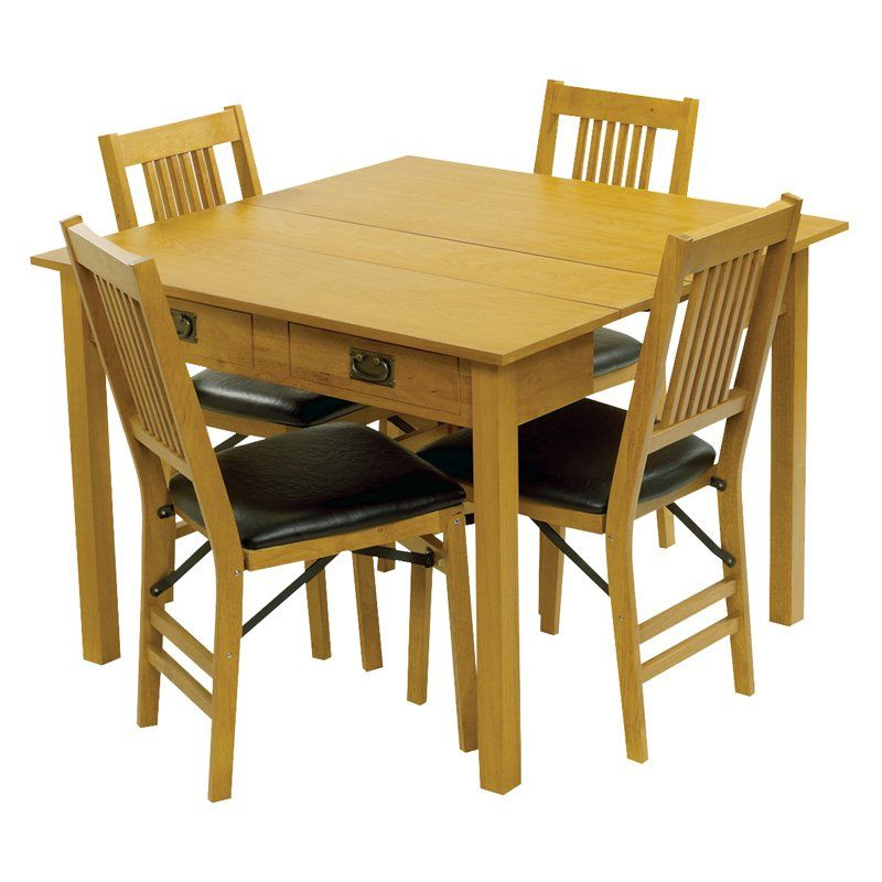 Expandable Dining Room Sets: Meco Mission Style Expanding Dining Table