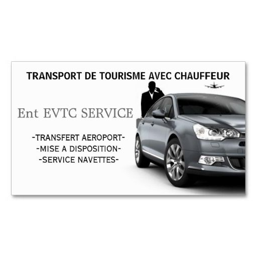 Owner Of Private Cars With Driver Business Card Template  Card