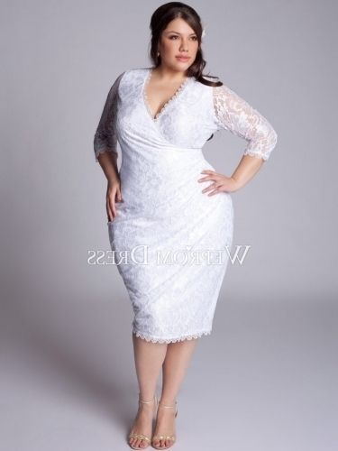 White Plus Size Cocktail Dresses for Weddings
