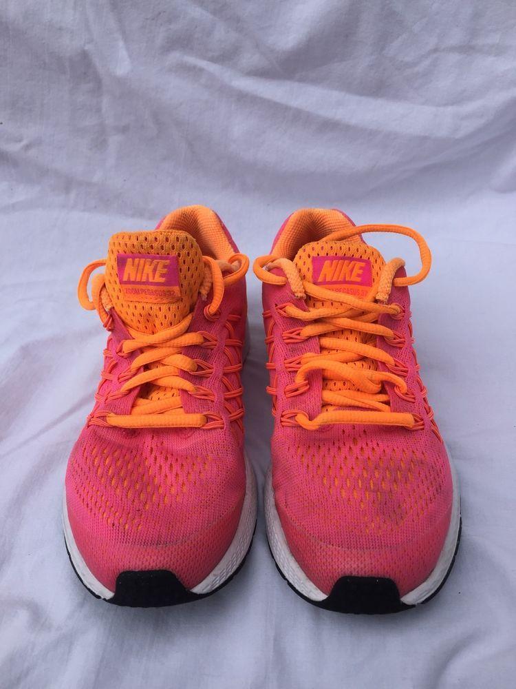brand new 90767 ba0c2 Nike Zoom Pegasus 32 GS Pink Orange White Kids Girl Youth Shoes US 2Y  759972-601 (eBay Link)