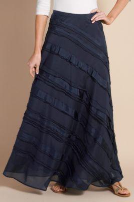 Faldas. pollera al bies con volados Vestidos Modestos b25fa34e689e