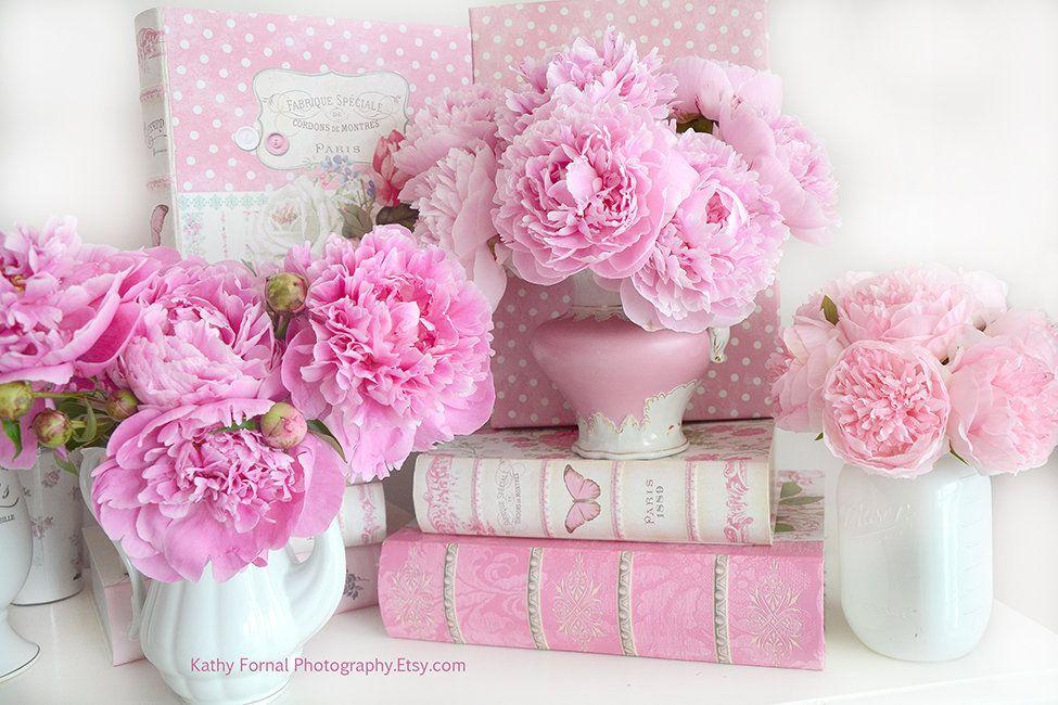 Peony Flower Photographs Pink Peonies Romantic Peony Prints Shabby Chic Peony Flowers Peony Flower Photography Pink Peonies Floral Art Baby Girl Nursery Decor Shabby Chic Flowers Peony Print