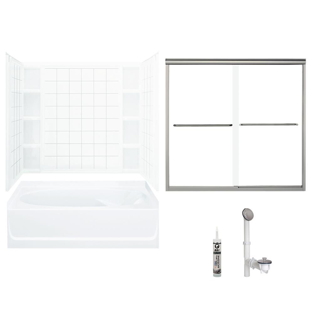 Sterling Ensemble 42 In X 60 In X 72 5 In Bath And Shower Kit