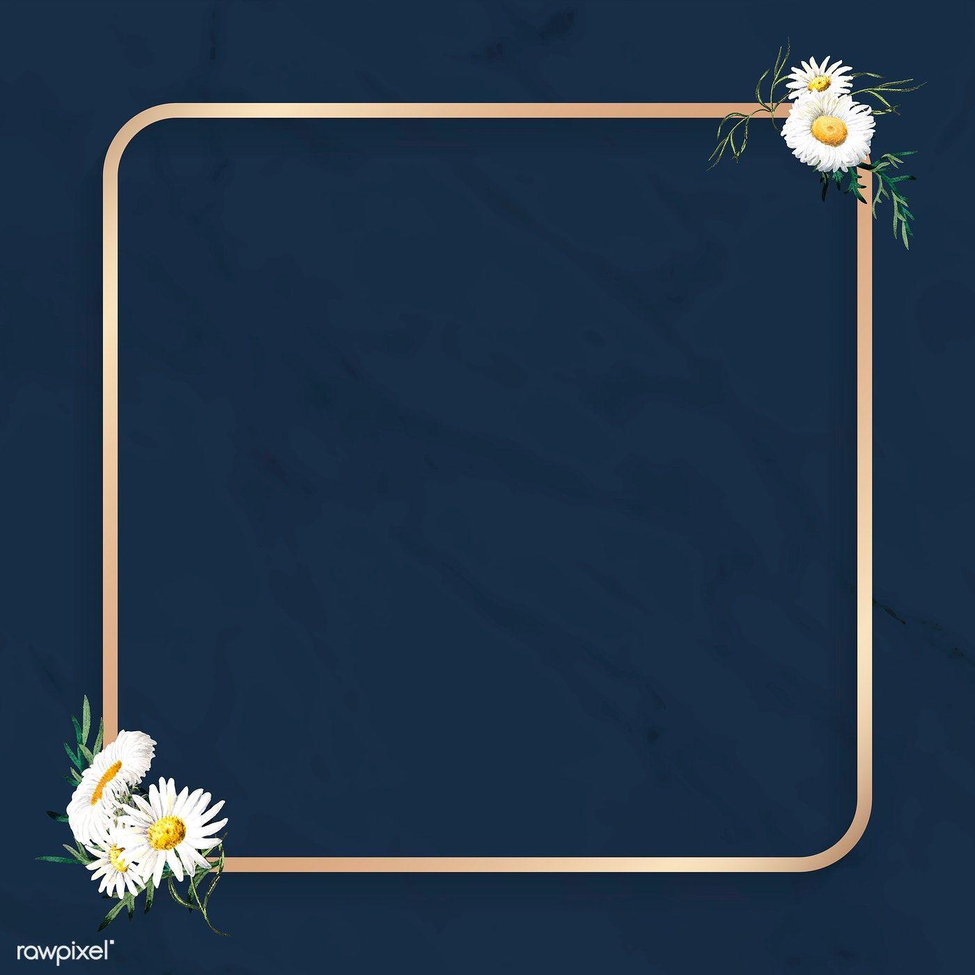 Download Premium Vector Of Blank Floral Square Frame Vector 1208802 Poster Background Design Floral Border Design Floral Squares