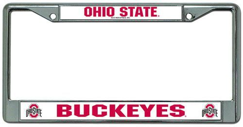 Chrome License Plate Frame Ohio State Buckeyes | Products ...