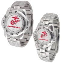 Sport Watch with Stainless Steel Band