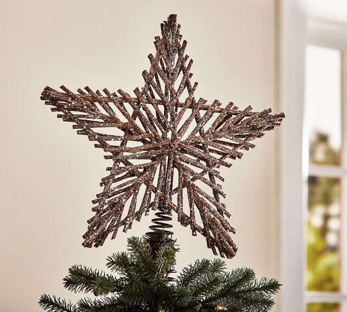 Twig Star Tree Topper Pottery Barn Au Diy Christmas Tree Topper Christmas Tree Topper Rustic Diy Tree Topper