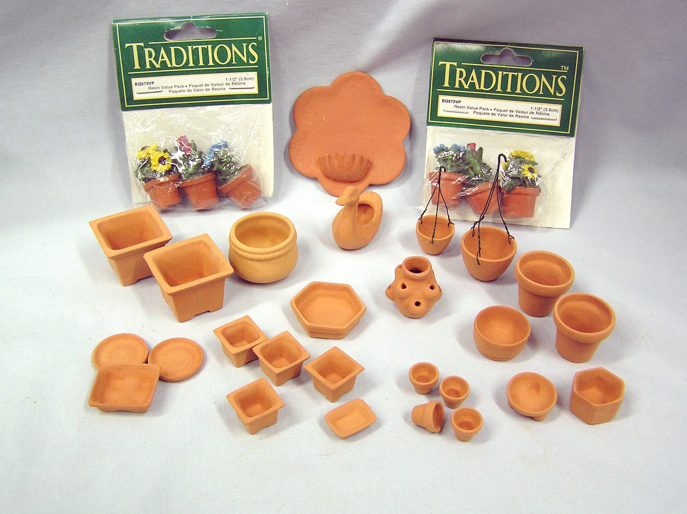 Your Place To Buy And Sell All Things Handmade Dollhouse Miniatures Terra Cotta Clay Pots Miniatures
