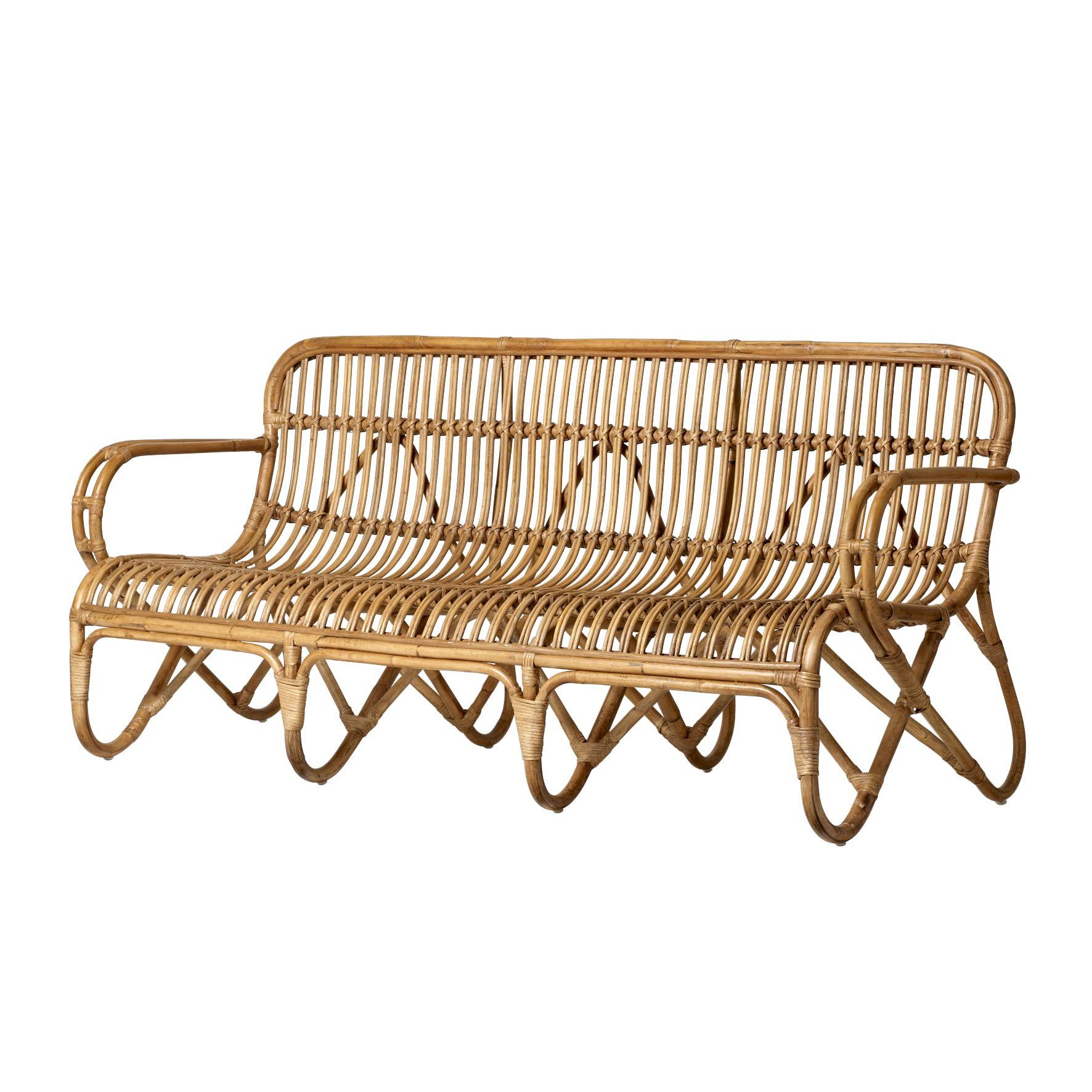 Rattan sofa from bloomingville h for Sofa mimbre terraza