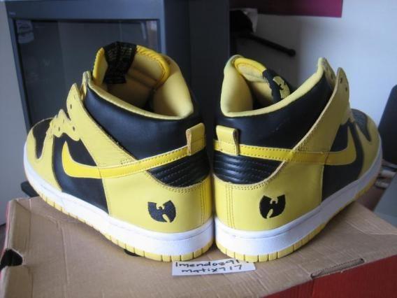 pretty nice 2368e 2b19b Nike Dunk High x Wu Tang Clan - Goldenrod - SneakerNews.com ...