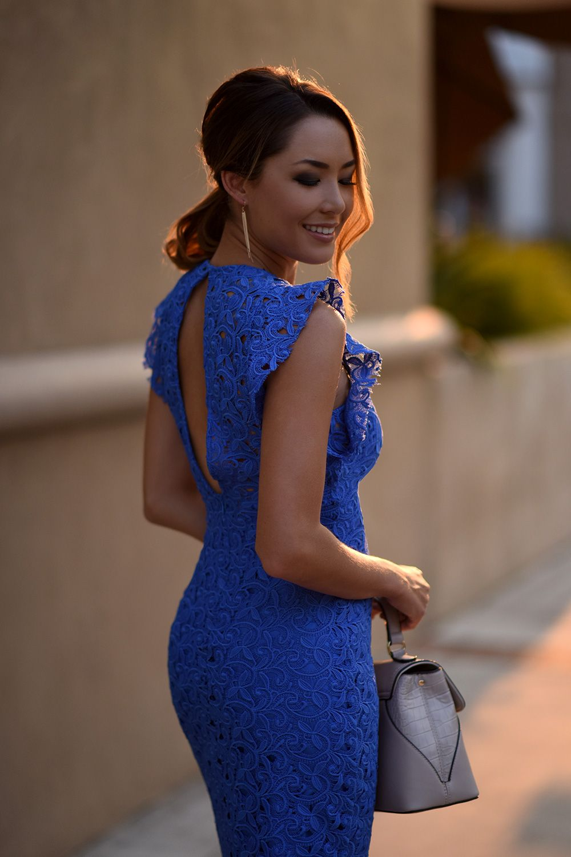 Blue Lace Zara Dress Hapa Time My Style In 2019
