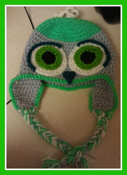 Owl Hat with ear flaps by Monascrochethats on Etsy, $15.00