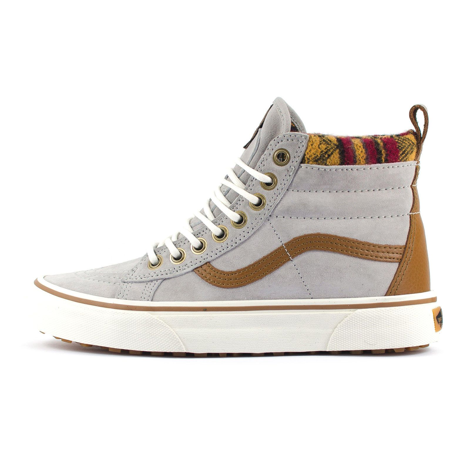 72f3267102 Womens Vans SK8 Hi Top MTE Scotchguard Knit Geo Grey Tan High Top Skate  Trainers
