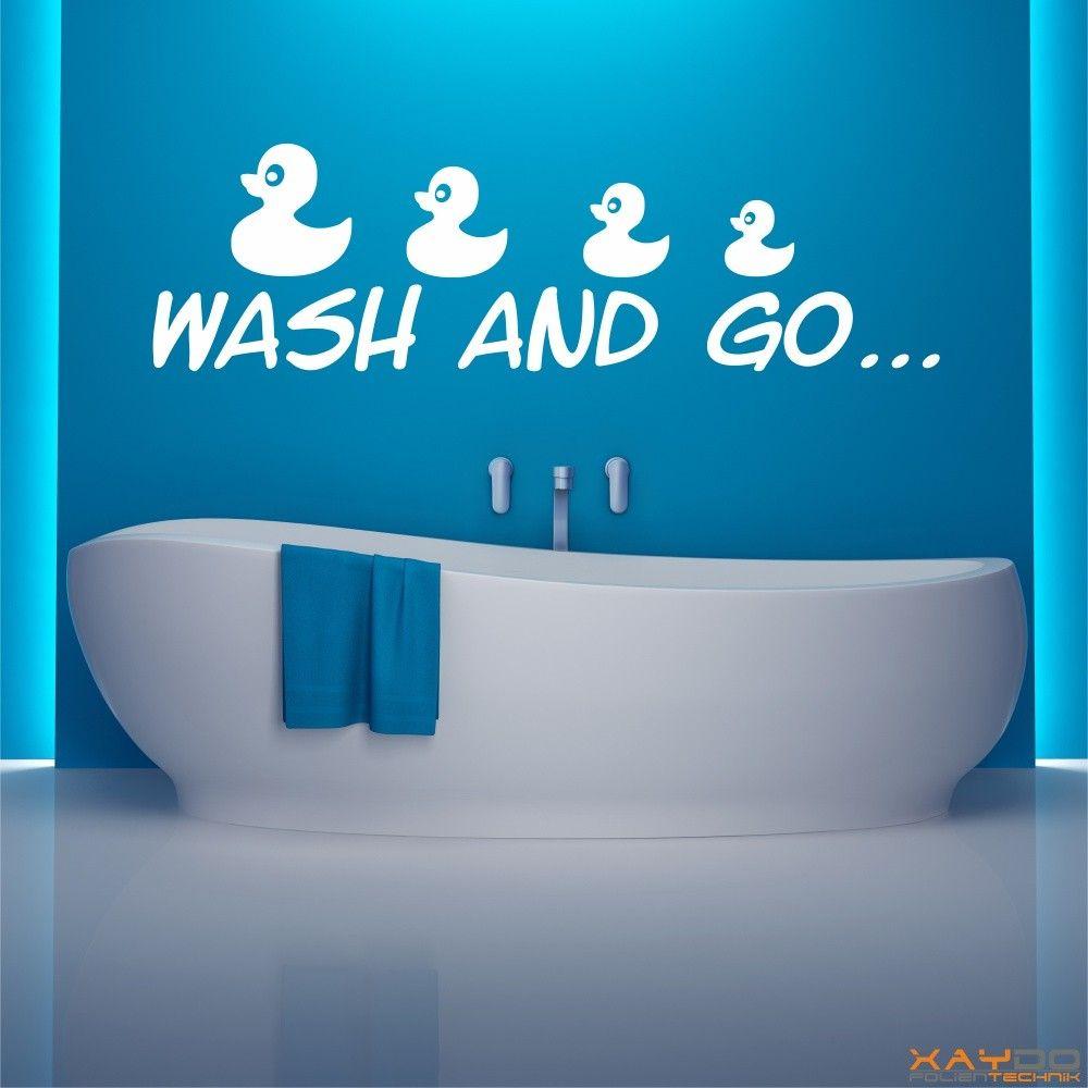 """Faszinierend Badezimmer Wandtattoo Dekoration Von """"wash And Go"""" - Ab 12,95 €"""