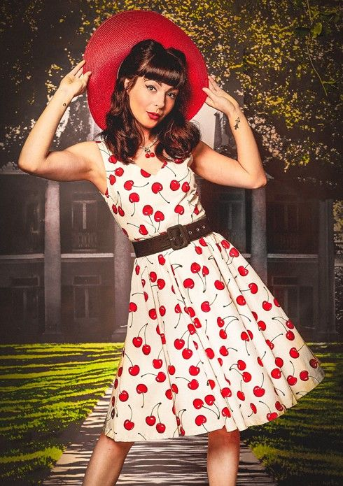 Spring revival 16 at Dangerfield - Cherry Surprise dress, Wide ...