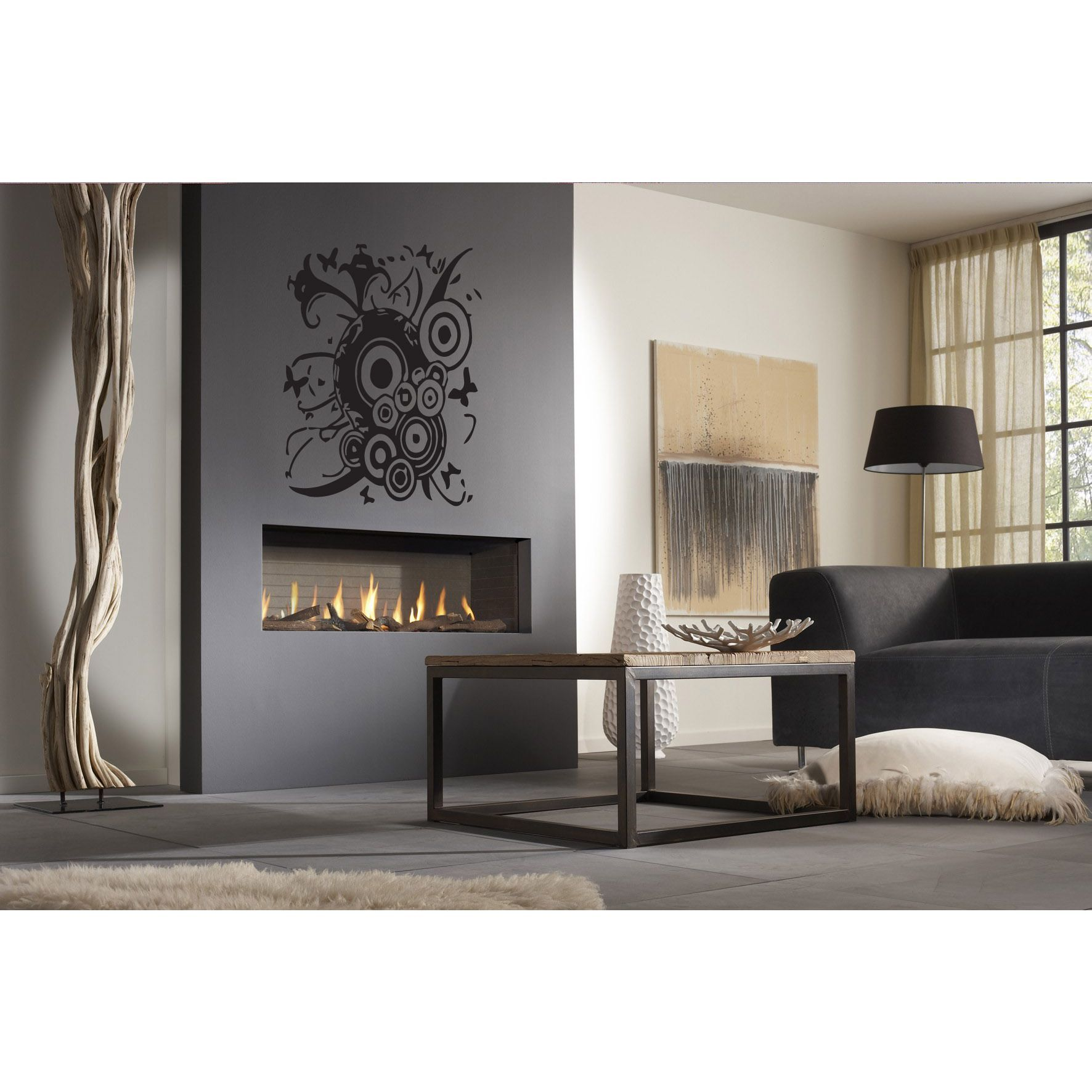 Fireplace Decal Abstract Butterflies Wall Art Sticker Decal