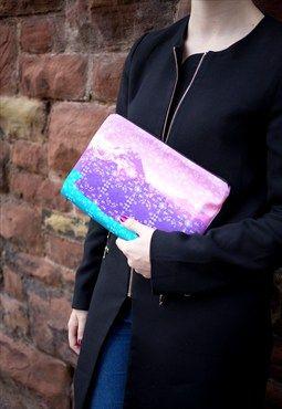 Rebecca Lake Print Clutch Bag