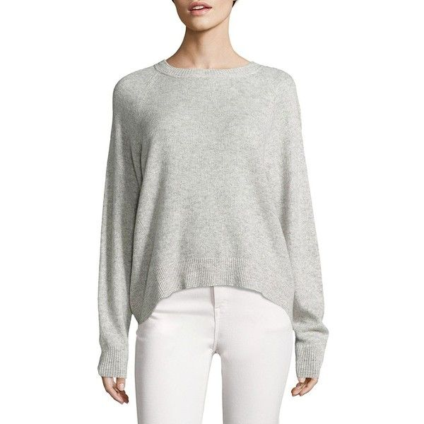 Vince Textured Cashmere Pullover (¥16,395) ❤ liked on Polyvore featuring tops, sweaters, apparel & accessories, crew neck sweaters, sweater pullover, cashmere crewneck sweater, j.crew cashmere sweaters and vince sweaters