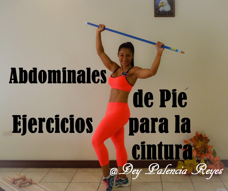ejercicios abdominales y cintura de pie