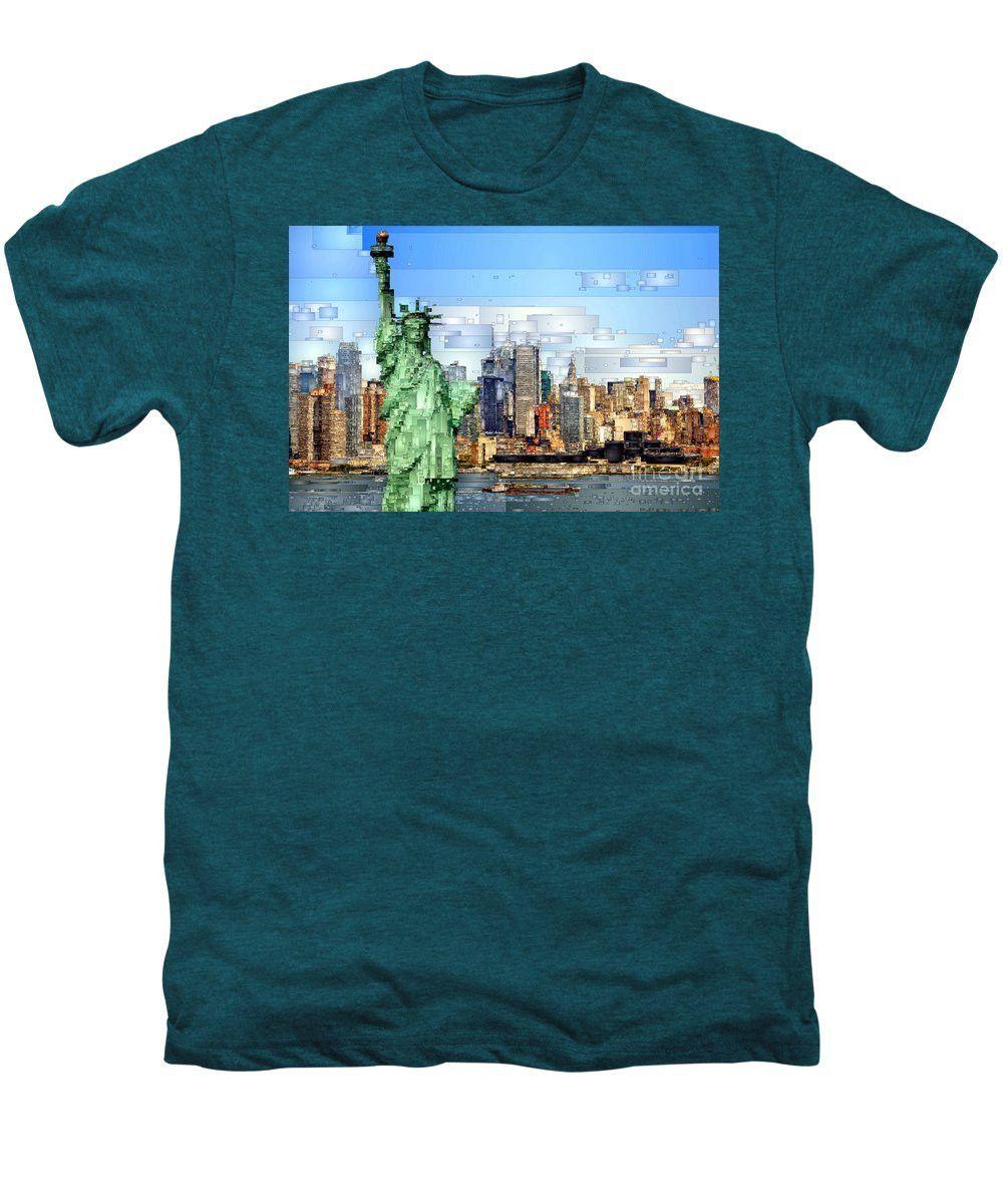 Men's Premium T-Shirt - Statue Of Liberty- New York