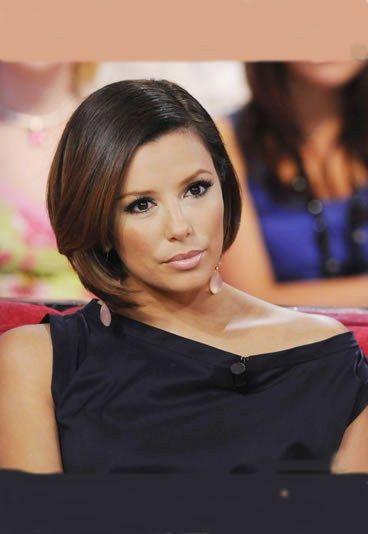 glatter bob eva longoria frisurentrend kurze haare bei den stars gofeminin mix pinterest. Black Bedroom Furniture Sets. Home Design Ideas