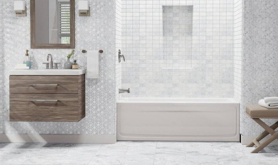 How To Design A Luxe Bathroom On A Budget Budget Bathroom Floor Decor Master Bathroom Shower Floor and decor bathroom design