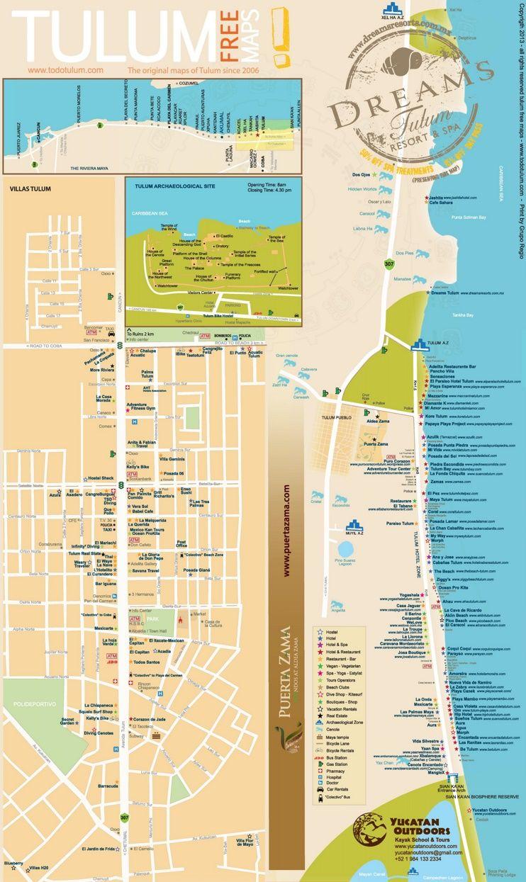 Dreams Tulum Map on