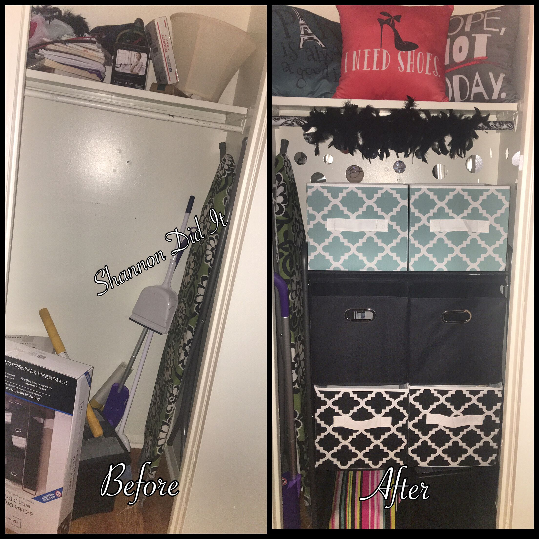 Extra closet?...why not organize/glamify it!!! To be continued...