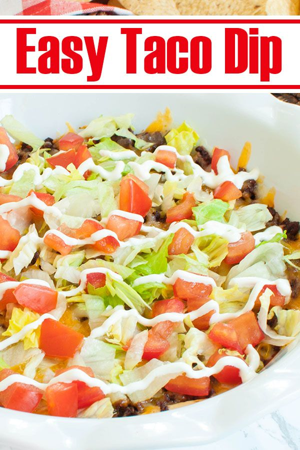 Easy Party Appetizer - Taco Dip