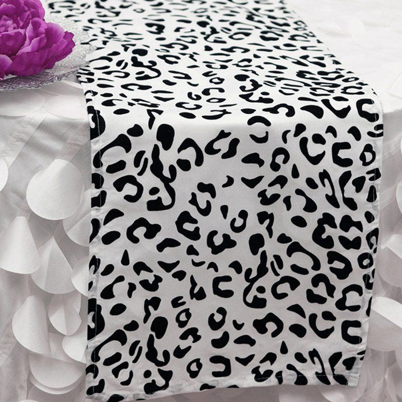 12 X 108 Black White Stripe Satin Table Runners In 2020 Printed Table Runner Animal Print Decor Table Runners