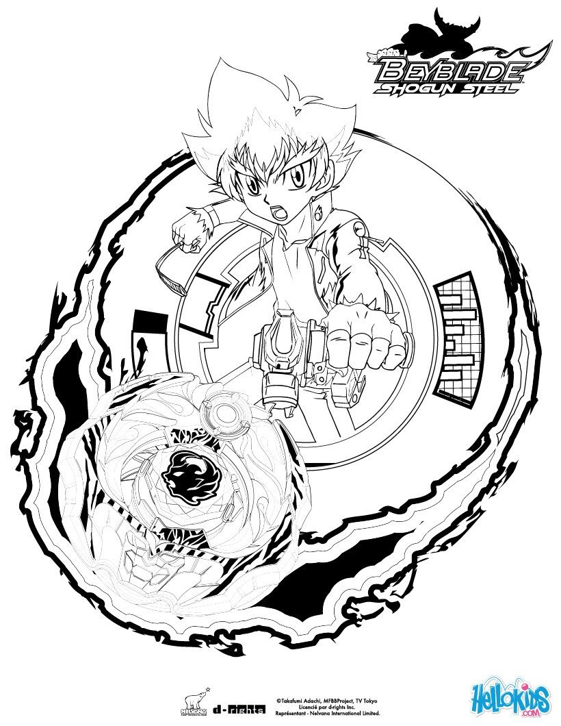 Zyro coloring page. More Beyblade coloring sheets on hellokids.com ...