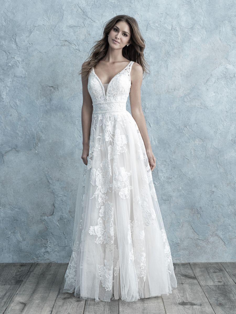 Allure 9657 Sz 10 Sand Champagne 1498 Available At Debra S Bridal Jacksonville Fl 32256 Contac Allure Bridal Gowns Allure Bridal Allure Wedding Dresses