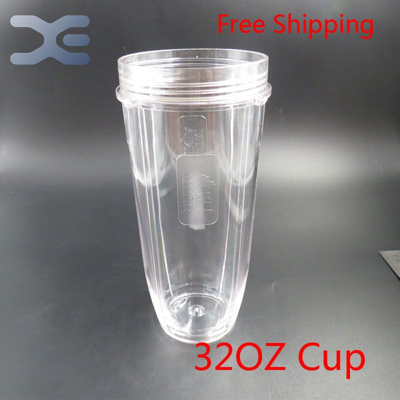 2Per Lot Nutri Ninja Blender Juicer 32OZ Clear Replacement Mug Cup For Replacement 1000W Auto Blender Spare Parts