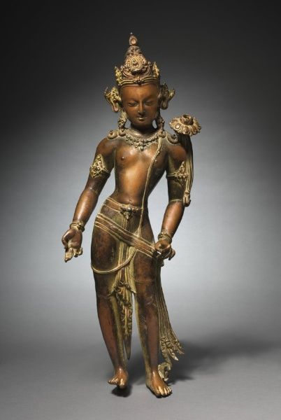 Avalokitesvara Padmapani: Bodhisattva of Mercy Bearing a Lotus, c. 1000s Nepal, c. 11th century