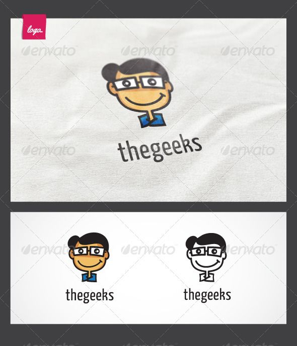 The geeks logo logo templates business website and adobe business logo design pronofoot35fo Choice Image