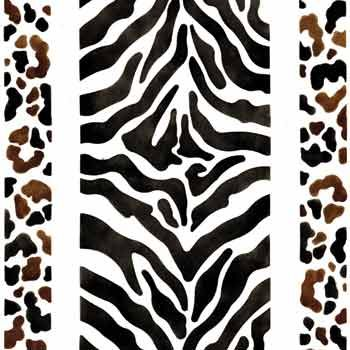 You can use this large-format Animal Print Wall and Floor stencil design to paint