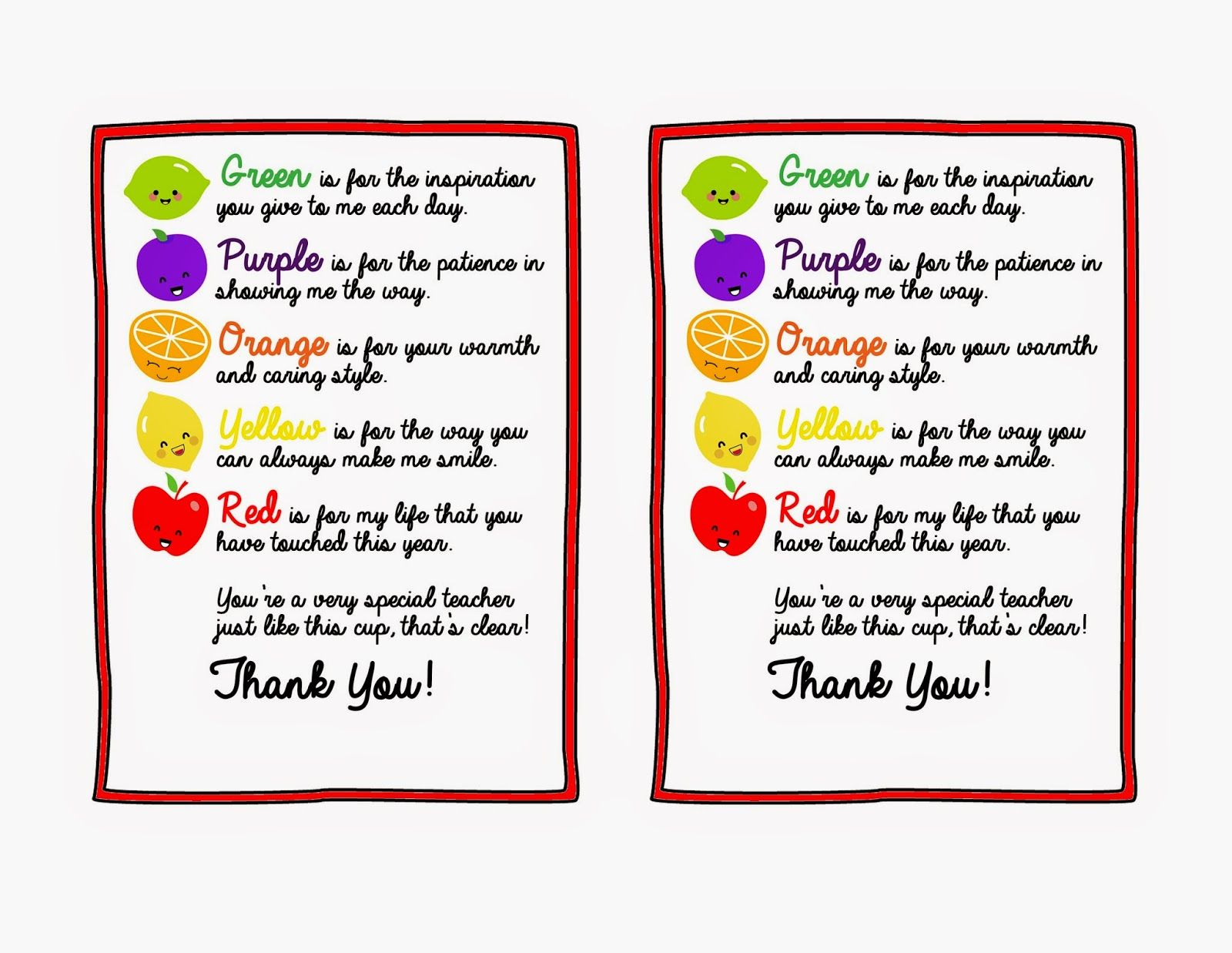 Thank You Teacher Quotes Repeat Crafter Me Fruitful Teacher Gift  Gifts  Pinterest  Gift
