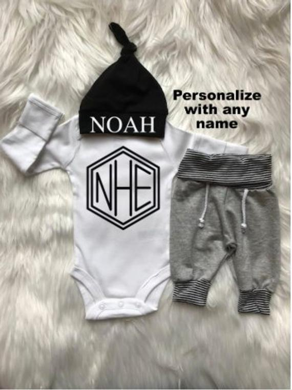 Photo of Personalized Baby Boy Coming Home Outfit